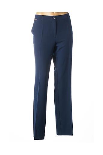 Pantalon chic bleu CRISTINA BARROS pour femme