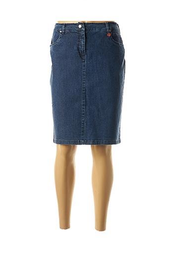 Jupe mi-longue bleu TONI DRESS pour femme