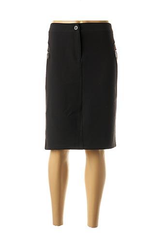 Jupe mi-longue noir ANDAMIO pour femme