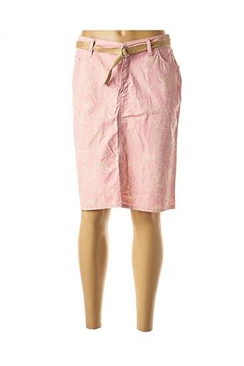 Jupe mi-longue rose COWEST pour femme