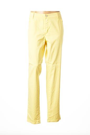 Pantalon casual jaune COWEST pour femme