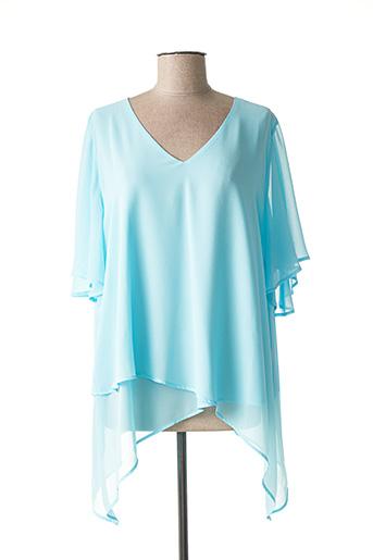 Blouse manches courtes bleu CRISTINA BARROS pour femme