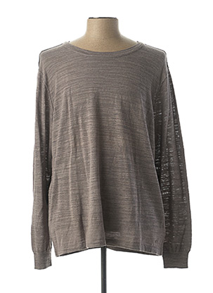 Pull col rond gris MUSTANG pour homme