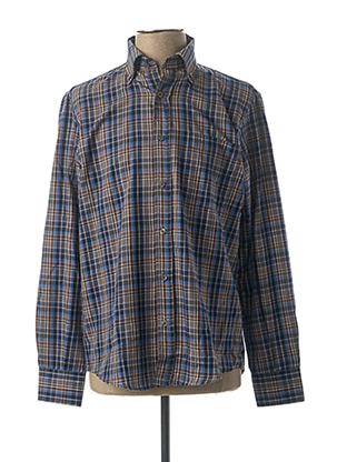 Chemise manches longues bleu GS CLUB pour homme