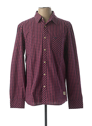 Chemise manches longues rose MUSTANG pour homme