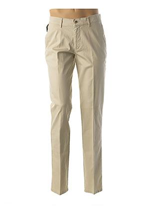 Pantalon chic beige GS CLUB pour homme
