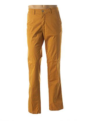 Pantalon chic jaune DELAHAYE pour homme