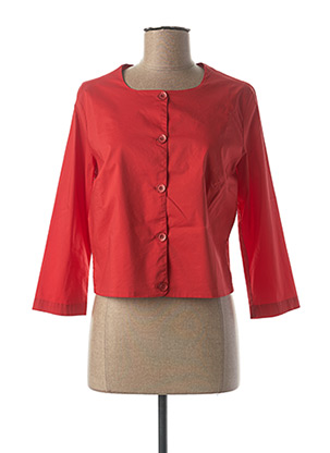 Veste casual rouge AVENTURES DES TOILES pour femme