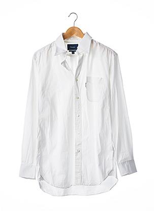 Chemise manches longues blanc FACONNABLE pour homme