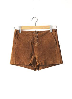 Short marron MANGO pour femme