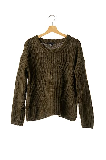 Pull col rond vert ATMOSPHERE pour femme