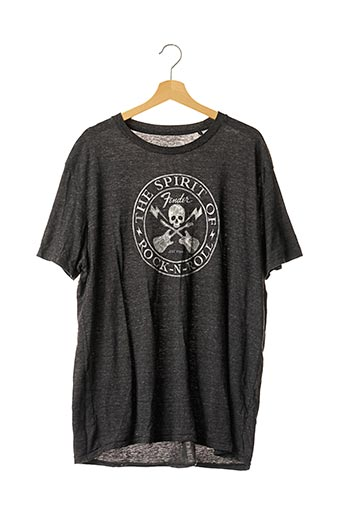 T-shirt manches courtes gris LUCKY BRAND pour homme