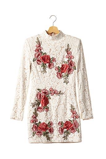 Robe courte blanc PEACE + LOVE pour femme