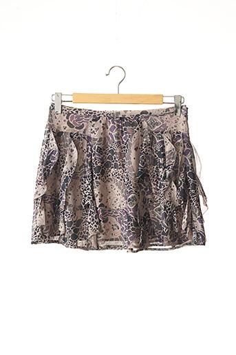 Jupe courte violet COMPTOIR DES COTONNIERS pour femme