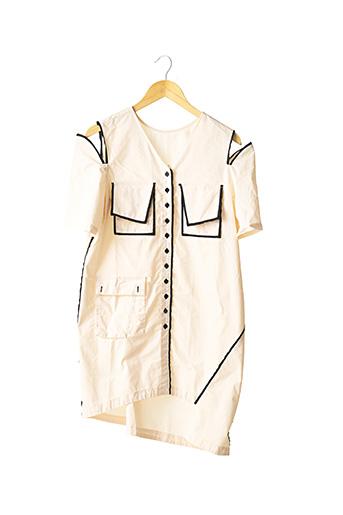 Robe mi-longue beige ANNO MUNDI pour femme