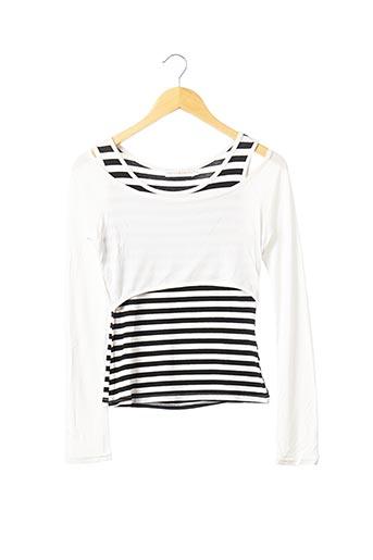 T-shirt manches longues noir CACHE CACHE pour femme