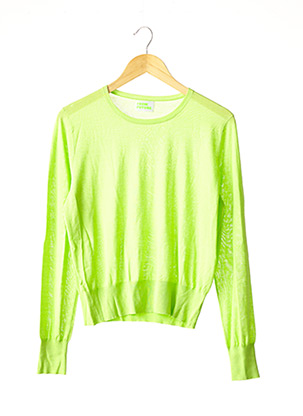 Pull col rond vert FROM FUTURE pour femme