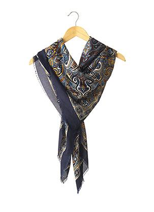 Foulard bleu LAURA MORI pour femme