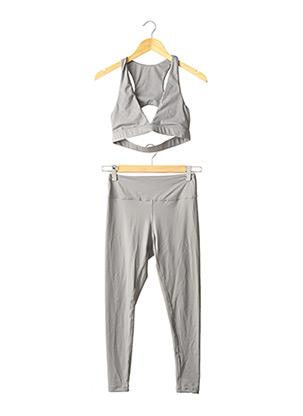 Top/pantalon gris SANS MARQUE pour femme
