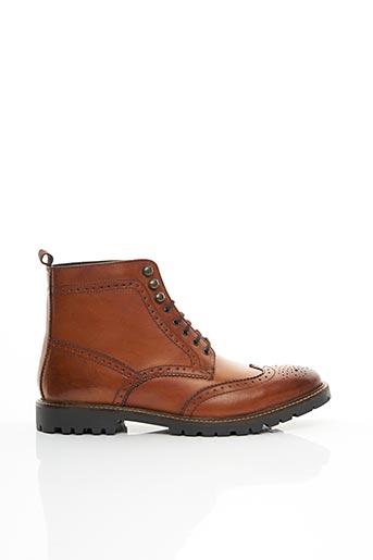 Bottines/Boots marron BASE LONDON pour homme