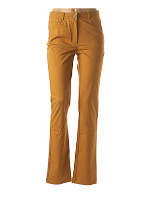 Pantalon casual jaune FELINO pour femme