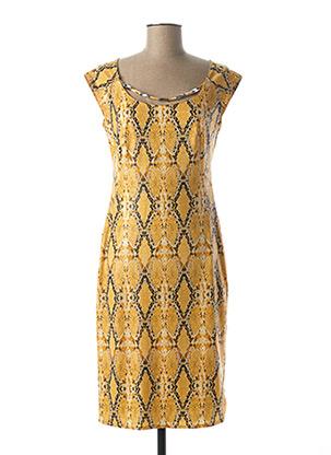 Robe mi-longue jaune EXTENZO PARIS pour femme