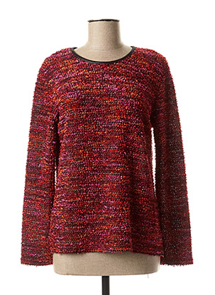 Pull col rond rose GEVANA pour femme