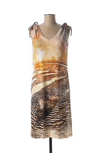 Robe mi-longue marron EGATEX pour femme