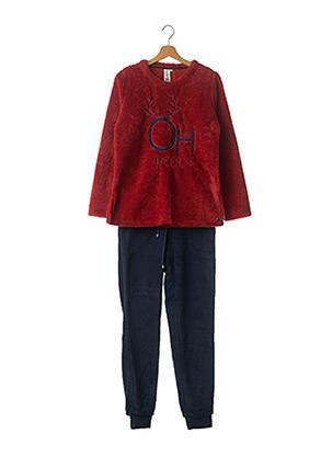 Pyjama rouge REBELLE pour femme