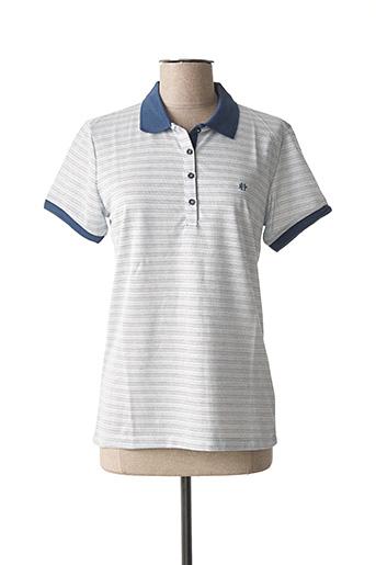 T-shirt manches courtes bleu FÉLIX HARDY pour femme