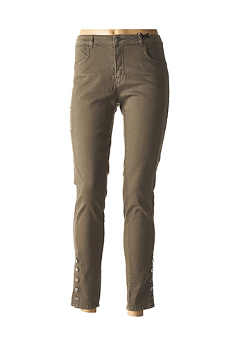 Pantalon 7/8 vert ZAPA pour femme