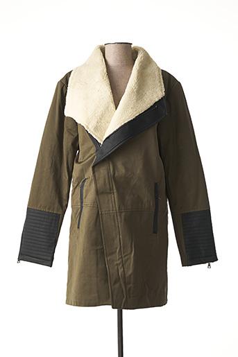 Manteau long vert GIORGIO DIMARE pour homme