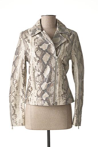 Veste en cuir beige ZAPA pour femme