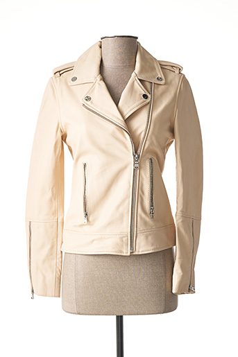 Veste en cuir rose ZAPA pour femme