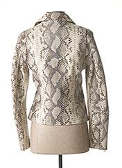 Veste en cuir beige ZAPA pour femme seconde vue