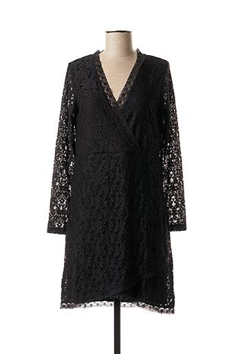 Robe mi-longue noir BLANCHEPORTE pour femme