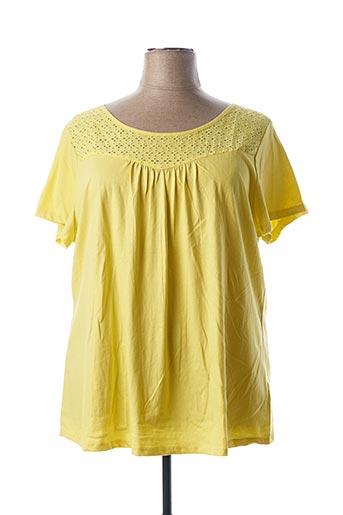 T-shirt manches courtes jaune BLANCHEPORTE pour femme