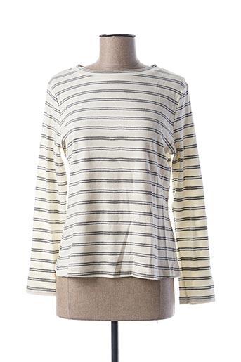 T-shirt manches longues beige CACHE CACHE pour femme