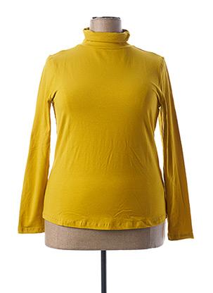 Sous-pull jaune BLANCHEPORTE pour femme