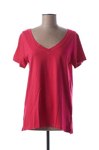 T-shirt manches courtes rouge BLANCHEPORTE pour femme