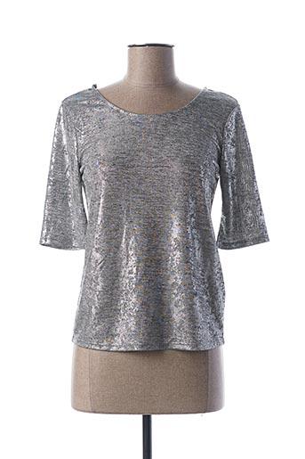 T-shirt manches longues gris MORGAN pour femme