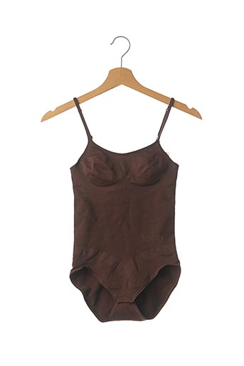 Body lingerie marron BARBARA pour femme