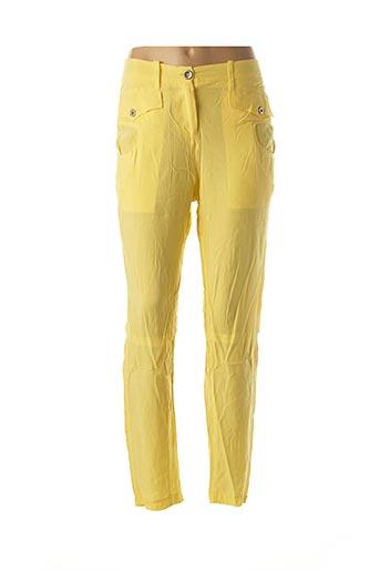 Pantalon casual jaune ACCESS FASHION pour femme