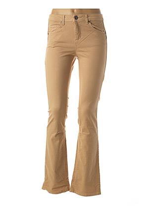 Pantalon casual beige BENETTON pour femme