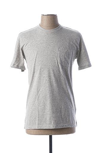 T-shirt manches courtes gris DAN JOHN pour homme
