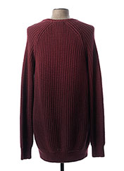 Pull col rond rouge CELIO pour homme seconde vue