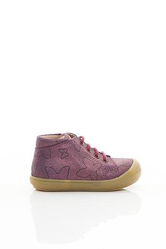 Bottillons violet ACEBOS pour fille