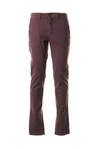 Pantalon casual violet CAMBRIDGE pour homme