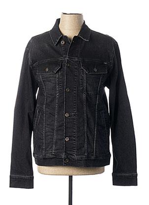 Veste en jean noir MUSTANG pour homme