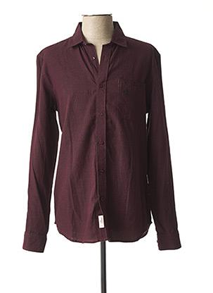 Chemise manches longues rouge TIBET pour homme